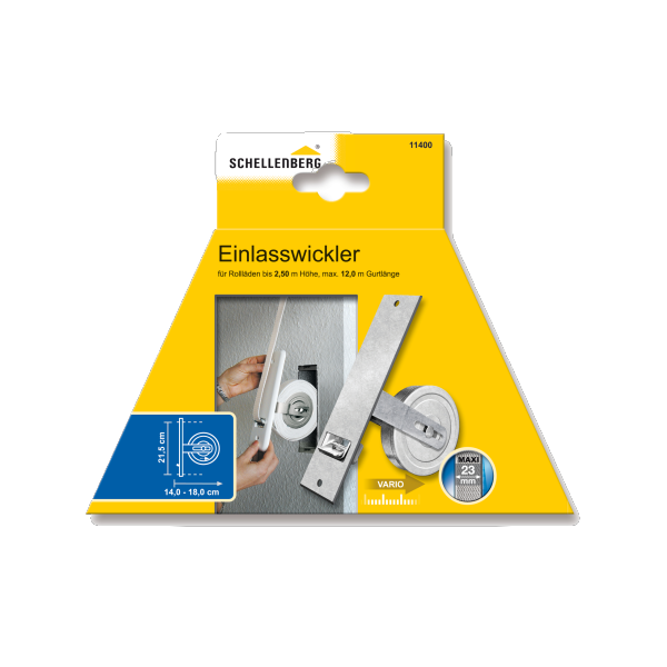 Schellenberg 11400 Einlaßwickler Maxi Lochabst. 21,5