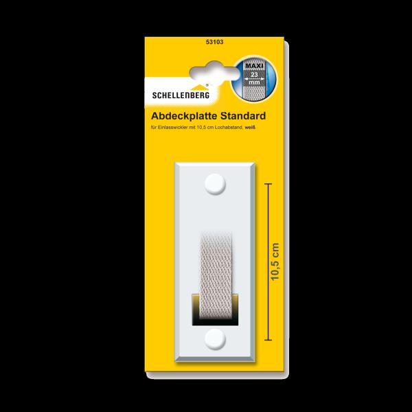 Schellenberg Abdeckplatte Lochabstand Standard 10,5 weiß