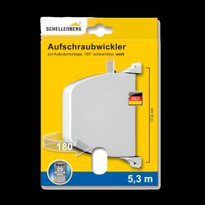 Schellenberg Aufschraubwickler Maxi schwenkbar, weiß