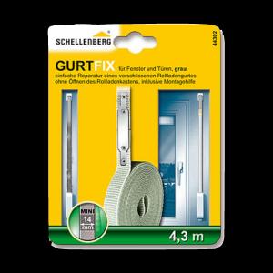 Schnellreparaturset Gurtfix Mini 14mm 4,3m grau