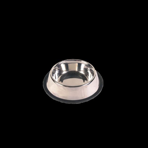 Trixie Futternapf aus Edelstahl mit Gummiring 0,9l Ø 17 cm