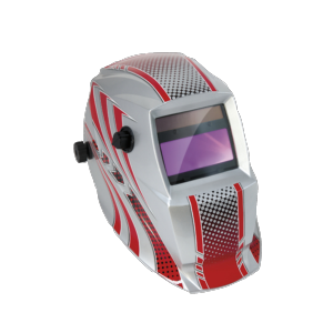 Schweißhelm LCD Hermes Red 9-13