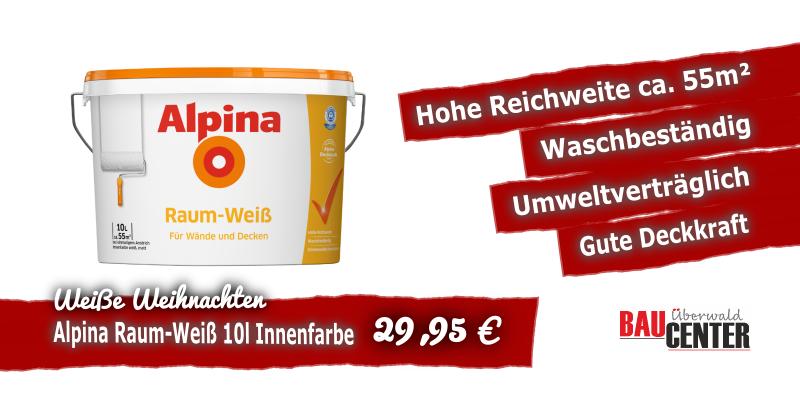 Alpina Raum-Weiß Angebotspreis Baumarkt Odenwald